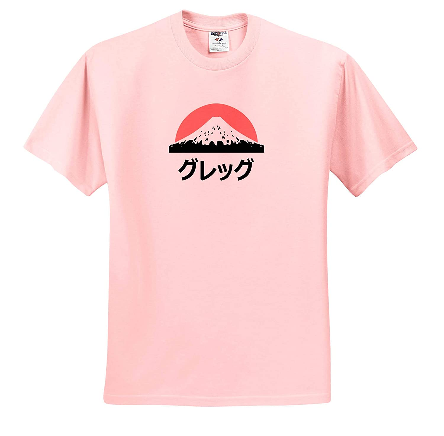 Greg in Japanese Letters Adult T-Shirt XL ts/_320491 Name in Japanese 3dRose InspirationzStore