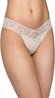 product image for Hanky Panky Organic Cotton Low Rise Thong with Lace