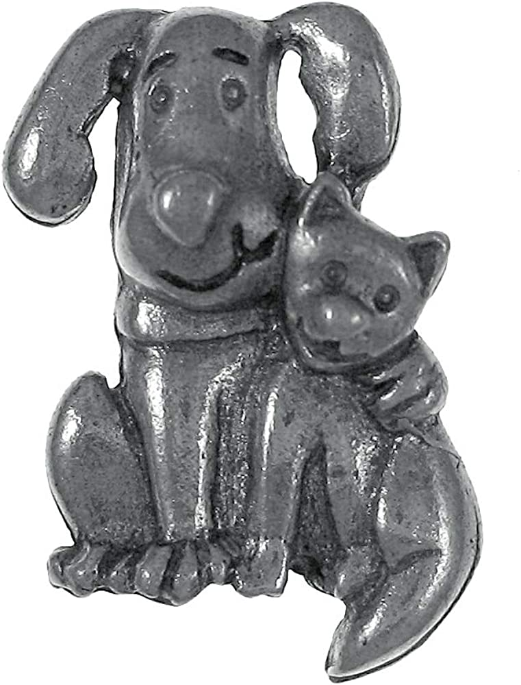 Jim Clift Design Dog and Cat Lapel Pin