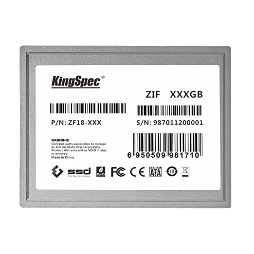 64GB KingSpec 1 8-inch ZIF 40-pin SSD Solid State Disk SMI Controller (MLC)
