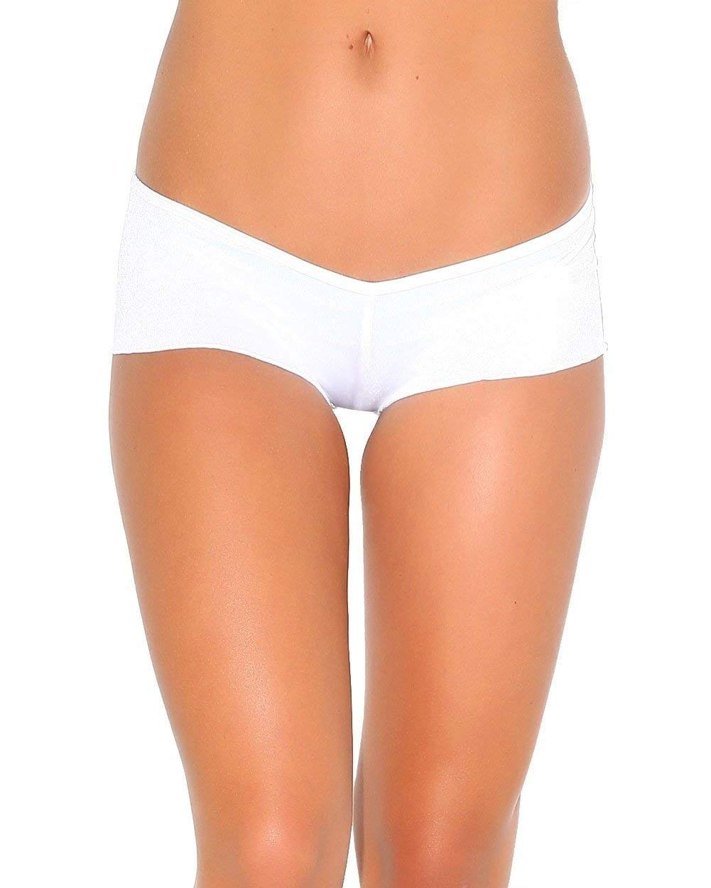 White Scrunch Back Micro Shorts (One size for all)