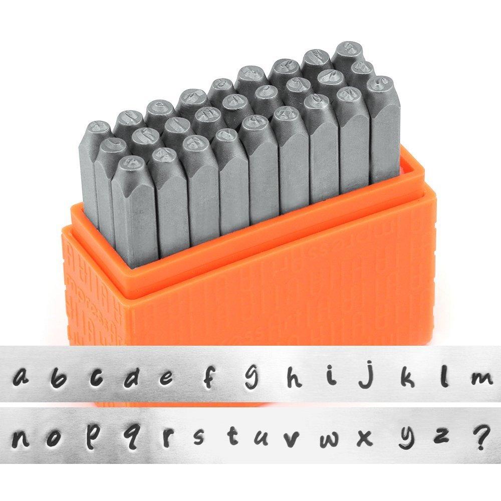 ImpressArt Basic Bridgette Lowercase Letter Metal Stamp Set Steep Punches for Metal Stamping /& More
