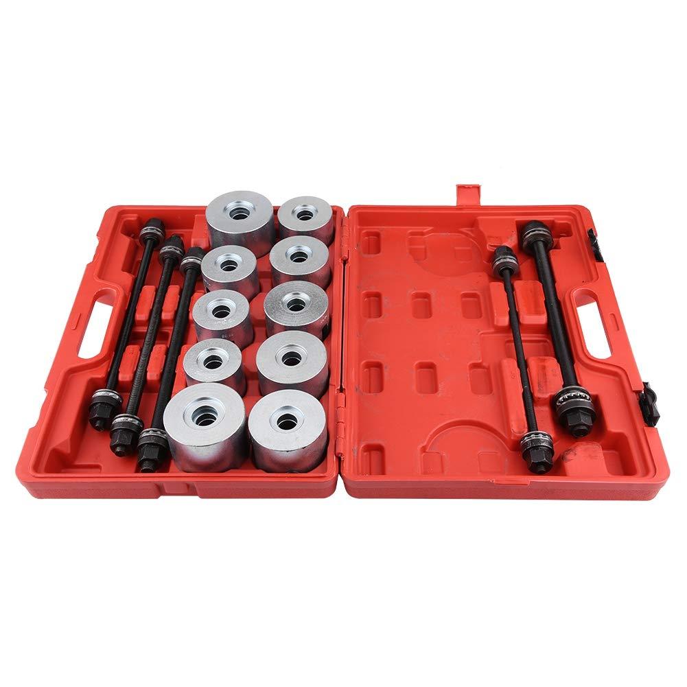 Estrattore cuscinetto ruota 27 pezzi auto universale strumento di rimozione delle boccole di deposito Set Press Pull Sleeve Kit