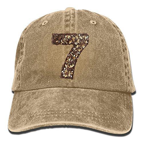 Number 7 Caps Unsex 100% Cotton Low Profile Adjustable Plain Flat Baseball Cap Sun Outdoor Sport Cowboy Snapback Fashion Hat](Number One Grandpa Hat)