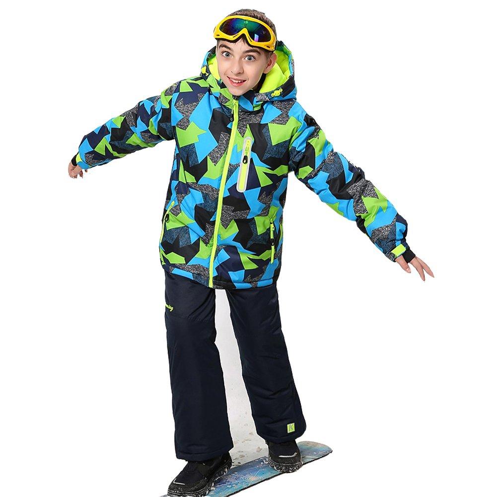 Wonny Boys Ski Jacket Pants Kids Waterproof Winter Skisuit SK0004/CA