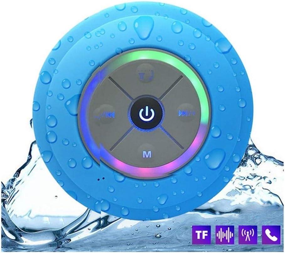 Altavoz Bluetooth Inalámbrica Barra De Sonido De La Música Sub Woofer De Tarjetas Portátil TF Receptor Resistente Al Agua TX Barra De Sonido Estéreo De Graves (Color : Blue, Size : 88x35mm)