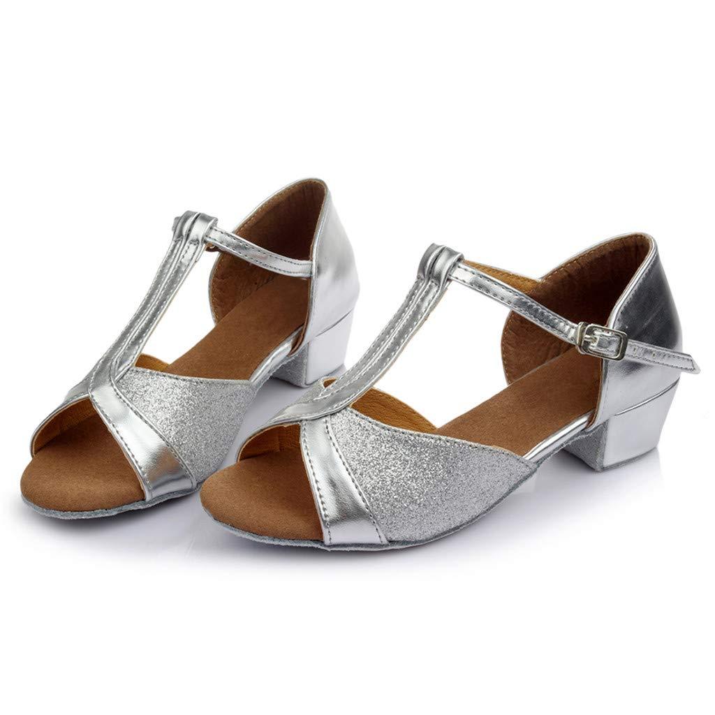 Aitena Lady Trend Dancing Rumba Waltz Prom Ballroom Latin Salsa Dance Sandals Silver