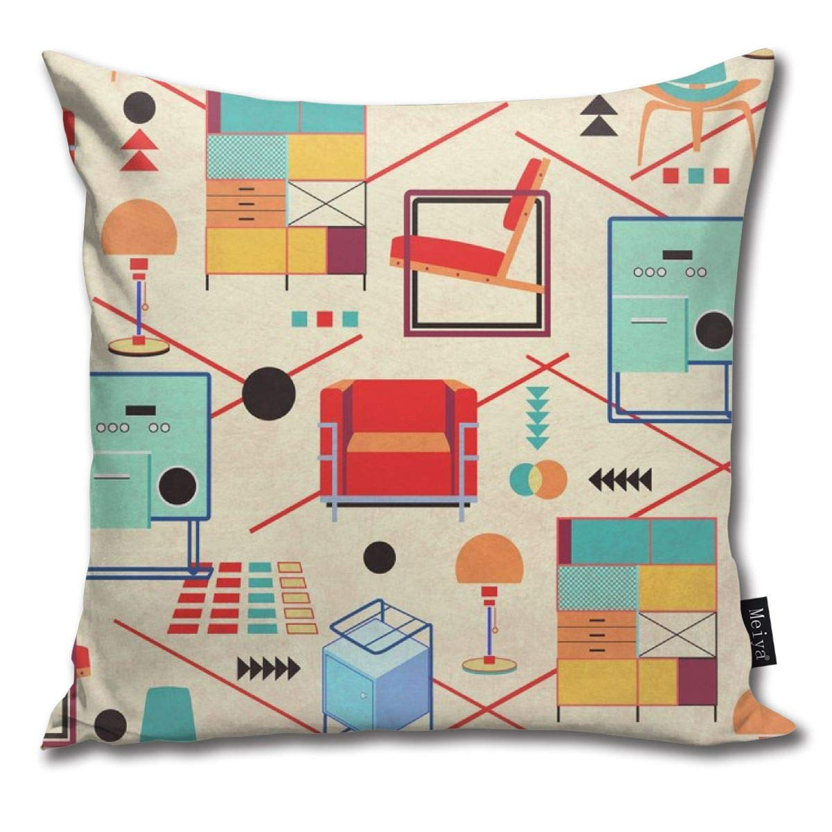 Amazon.com: Brecoy Bauhaus Furniture Throw Pillow Cushion ...