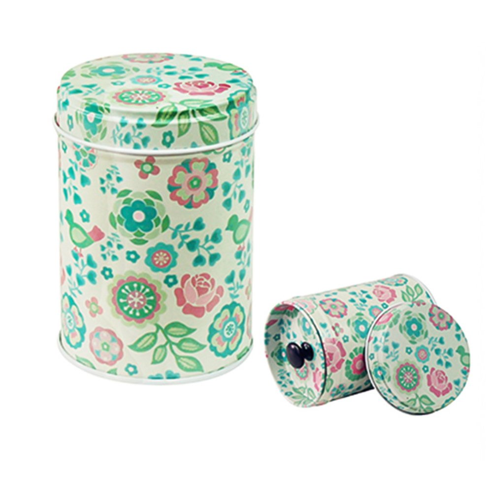 Meiyuan Cylindrical Sugar Candy Biscuit Tin Tobacco Tea Coffee Seal Storage Jar Canister Large Capacity