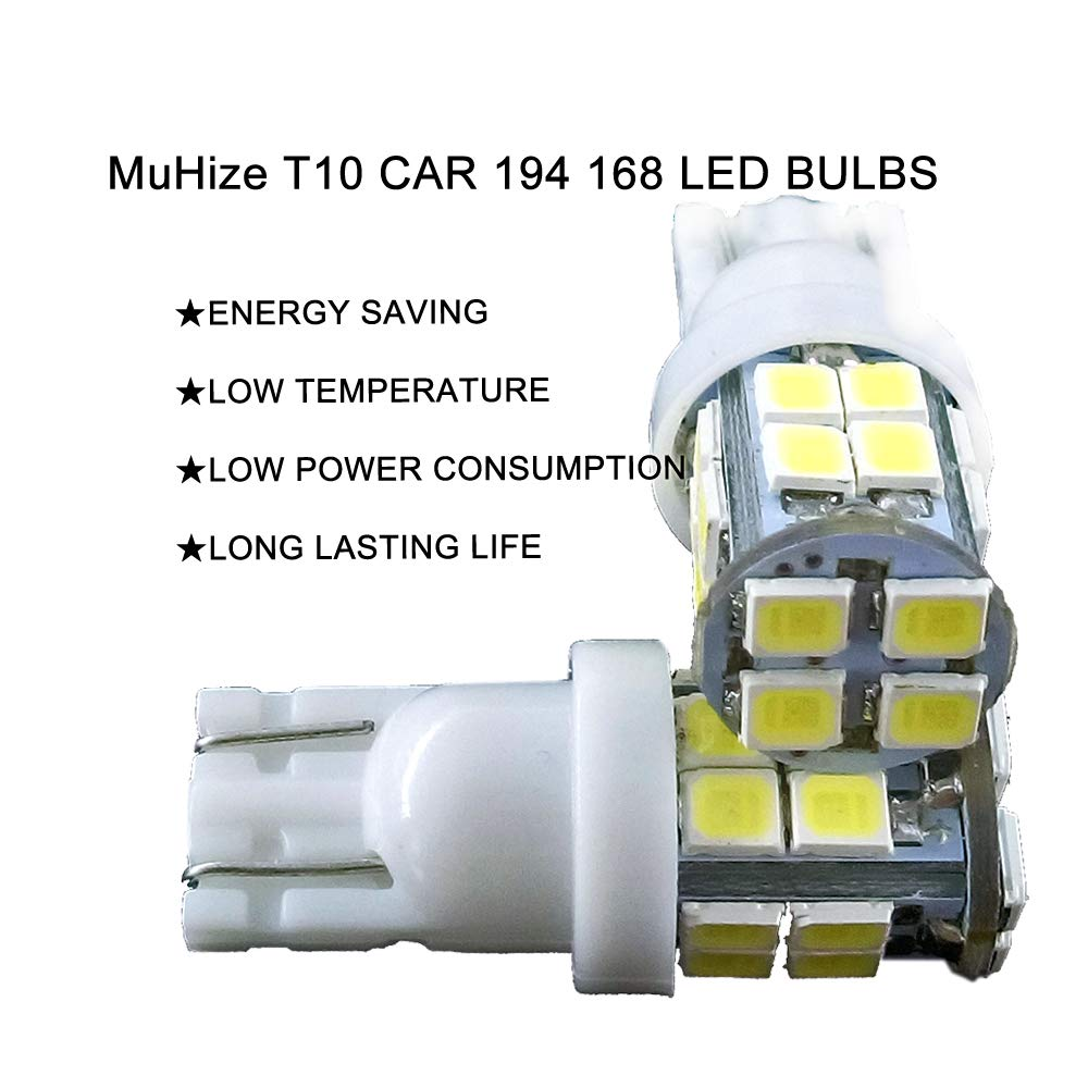 for Camper Trailer Interior Map Dome Lights DC 12V 2 Years Warranty 6000K Super White 194 168 2825 Lamp Replacement 2019 New Design MuHize 20 x T10 42SMD RV LED Wedge Bulbs