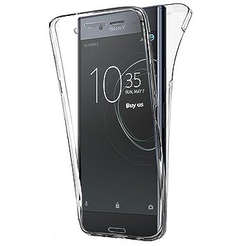 Buyus Funda Full Body Sony Xperia XZ Premium, Transparente Silicona 360 Grados Carcasa Silicona Funda Case