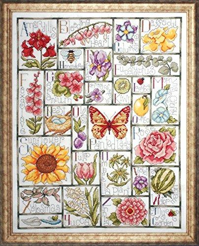 floral abc cross stitch kit