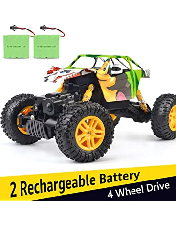 DOUBLE E RC Cars 1:18 Dual Motors Rechargeable Remote Control Truck 4WD Off Road