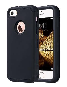 ULAK iPhone SE Funda iPhone 5S Carcasa de protección híbrido Resistente a Prueba de Golpes de Cuerpo Completo con Capa [Hard PC + Soft Silicone] de ...