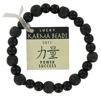 Bois Karma NoirBijoux Onyx Bracelet Perles De Ac3Sj54LqR