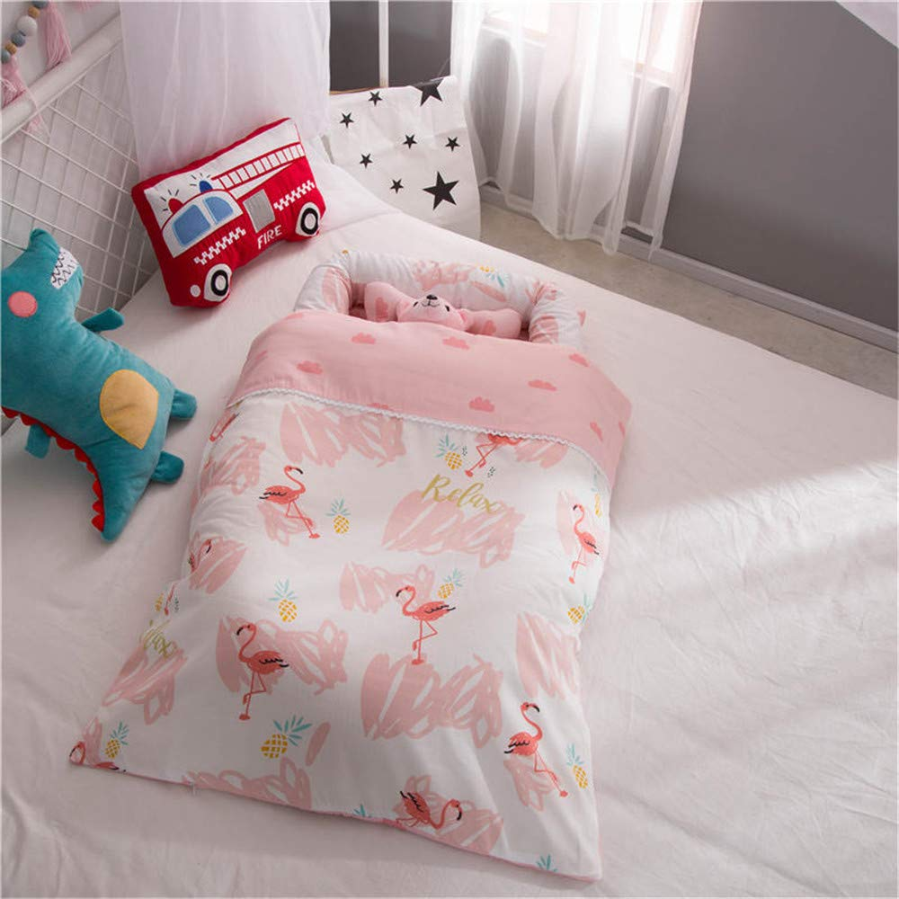 Abreeze Baby Lounger,Infant Lounger,Newborn Lounger: Breathable,Hypoallergenic-Perfect für Co-Sleeping,Cotton Portable Travel Infant Bed,Crib,Bassinet,oder Flamingo Baby Nest