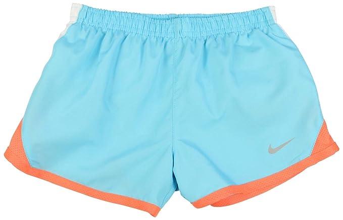 69b45d447ea19 Amazon.com: NIKE Girls Tempo 5K Dri-Fit Running Shorts Blue/Orange ...