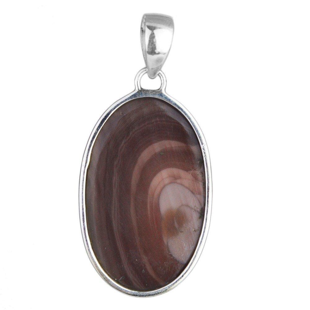 Crystalcraftindia Imperial jasper 925 Sterling Silver gemstone Pendant 8.32 g
