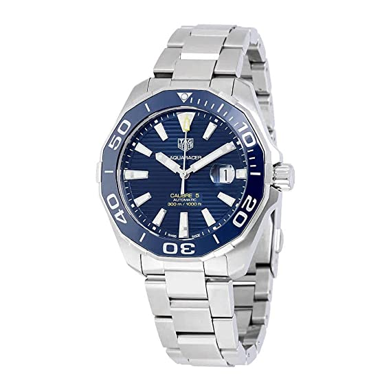 ceba5d9b619 Buy Tag Heuer Aquaracer Calibre 5 Automatic Blue Dial Men s Watch Online at  Low Prices in India - Amazon.in