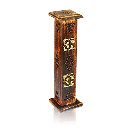Wooden Incense Stick /& Cone Burner Holder Tower Large Organic Eco Friendly Ash Catcher Agarbatti Holder Rustic Style Hand Carved For Meditation Yoga Aromatherapy Home Fragrance Products