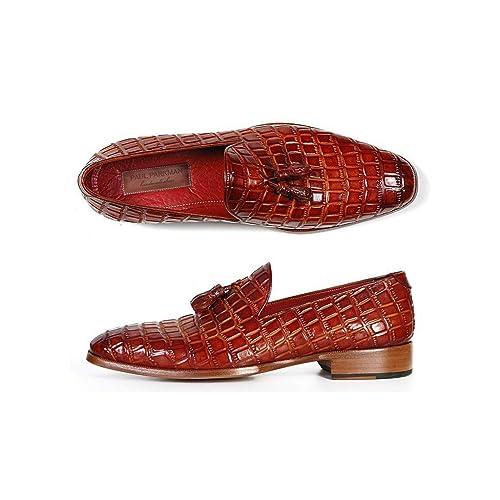 Paul Parkman - Mocasines de Piel para Hombre Rojo Granate: Amazon.es: Zapatos y complementos