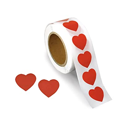 500 Red Heart Shaped Small Stickers (500 Stickers): Arts, Crafts & Sewing