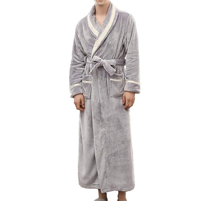 Womens Bathrobe Plush Soft Warm Fleece Robe Night Robes Dressing Gown  Turkish Kimono Robes (M 0092337fb