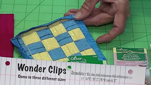 WONDER CLIPS INSTEAD OF PINS RED COLOURED PATCHWORK,SEWING AND CRAFTING