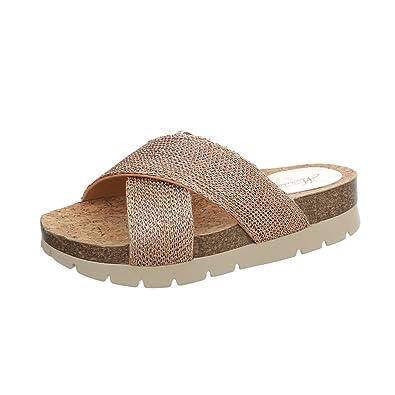 Ital Design Damenschuhe Sandalen  Sandaletten Pantoletten  36 EUDunkelblau