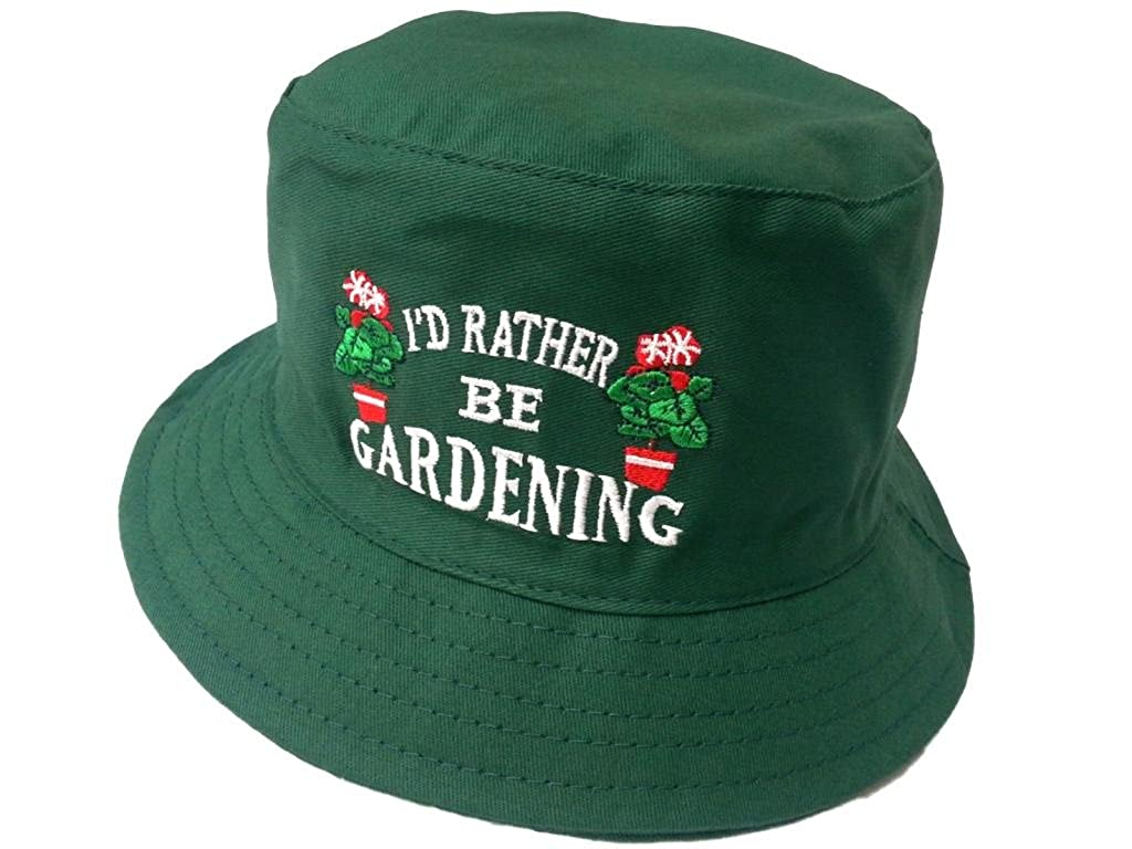 Adults 'I'd Rather Be Gardening' Bush Bucket Hat / Available in Sizes Small (57 cms) Medium (58 cms) and Large (59 cms) (Small (57 cms)) I' d Rather Be Gardening Bucket Hat