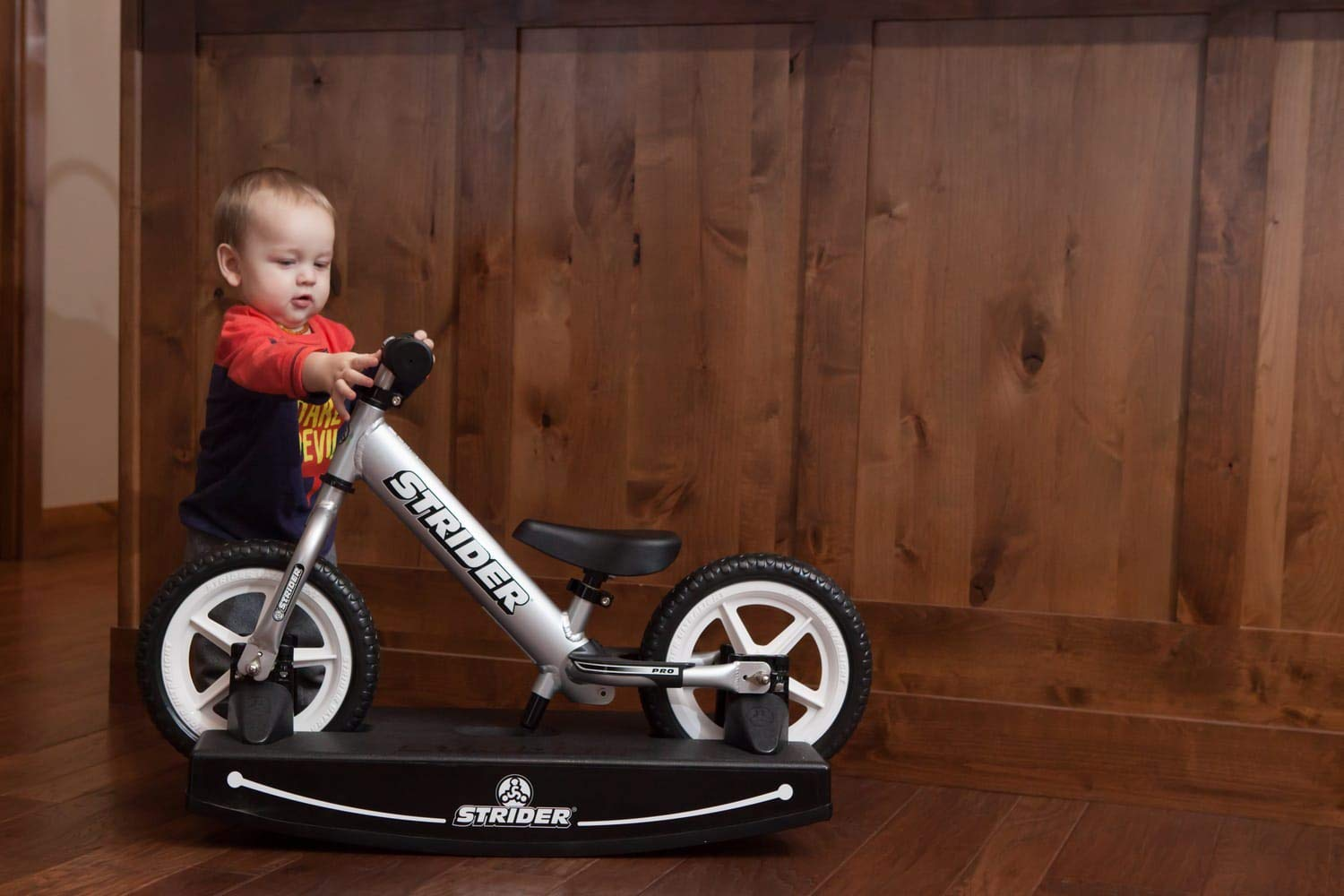 Strider - 12 Pro Baby Bundle with Balance Bike and Rocking Base, Ages 6 Months to 5 Years, Silver by Strider (Image #5)