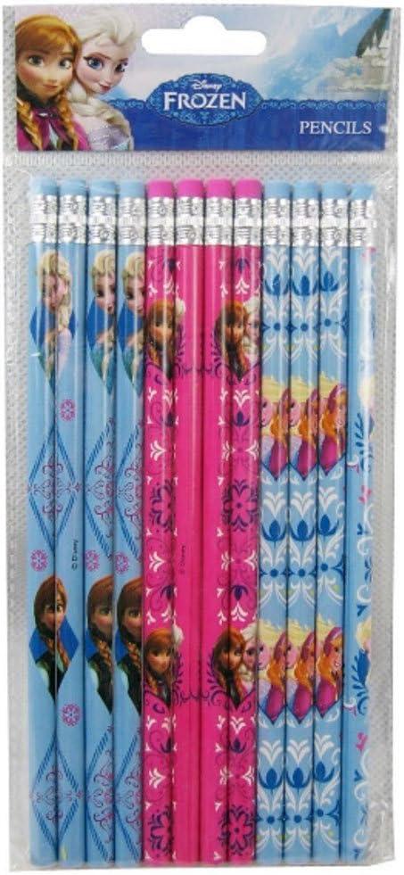 Elsa Sky-blue//Pink//Blue-gray Wooden Pencils Frozen 12 pcs Anna