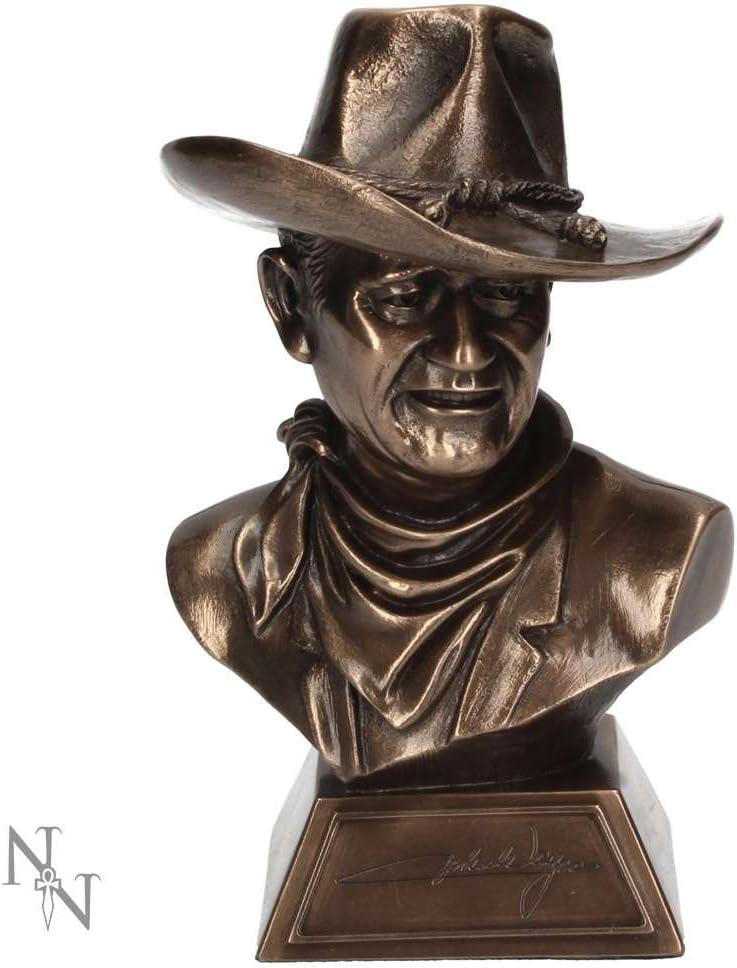 Nemesis Now John Wayne Bust Figurine 18cm Bronze, Resin, One Size