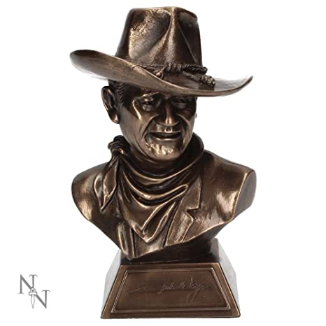 Pelele de bronce coleccionable oficial de John Wayne 18cm - En caja