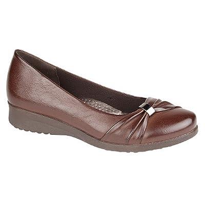 Boulevard Womens/Ladies Sash Vamp Wedge Casual Shoes