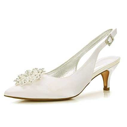 2d09f15d07fd affordable zxstz womens shoes basic pump wedding shoes kitten heel pointed  toe rhinestone sparkling glitter silver champagne with kitten heel wedding  shoes