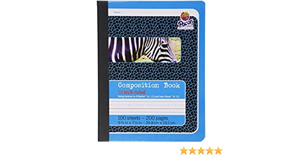 Amazon.com : Pacon Composition Book, 9/3/4