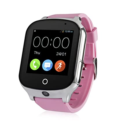 Laxcido 3G WiFi Phone Call GPS Smart Watch, Real-time Tracking SOS GPS Tracker Watch, Geo-Fence Elderly GPS Watch Touch Screen Camera Step Counter ...
