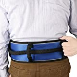 Tommhanes Gait Belt Gait Transfer Belt 4 Vertical Handles 3 Transverse Handles And Three - Dimensional Soft Design Gait Belt One Size Blue
