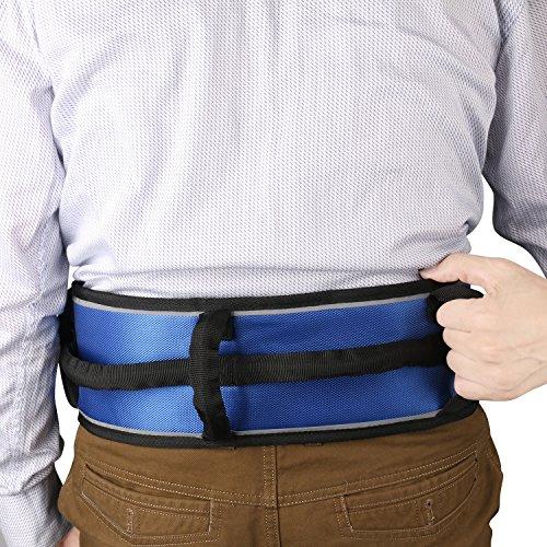 Gait Belt Gait Transfer Belt 4 Vertical Handles 3 Transverse Handles and Three - Dimensional Soft Design Wheelchair Seat Belt Gait Belt One Size Blue