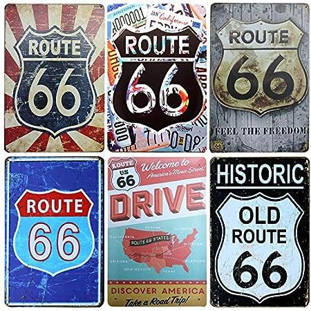 Maison 20 x 30 cm Newcave Route66 Route 66 Plaque en m/étal Vintage pour d/écoration de Bar 20x30cm Route66-1 pub