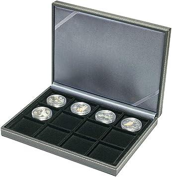 Lindner 2363-12 Estuche monedas NERA XM com 12 compartimentos cuadrados para monedas o cápsulas con un diámetro de hasta 52 mm: Amazon.es: Juguetes y juegos