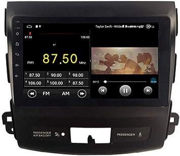 Android 9.1 Equipo de música del Coche DVD GPS Navi de Radio para Multimedia inalámbrico Mitsubishi Outlander Citroen C-Crosser Peugeot 4007 de la Rueda de dirección 2007-2012: Amazon.es: Electrónica