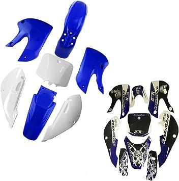 Blue WPHMOTO Plastic Body Fenders Fairing Kit and Sticker Decals for Kawasaki KX65 KX 65 Pit Dirt Bike
