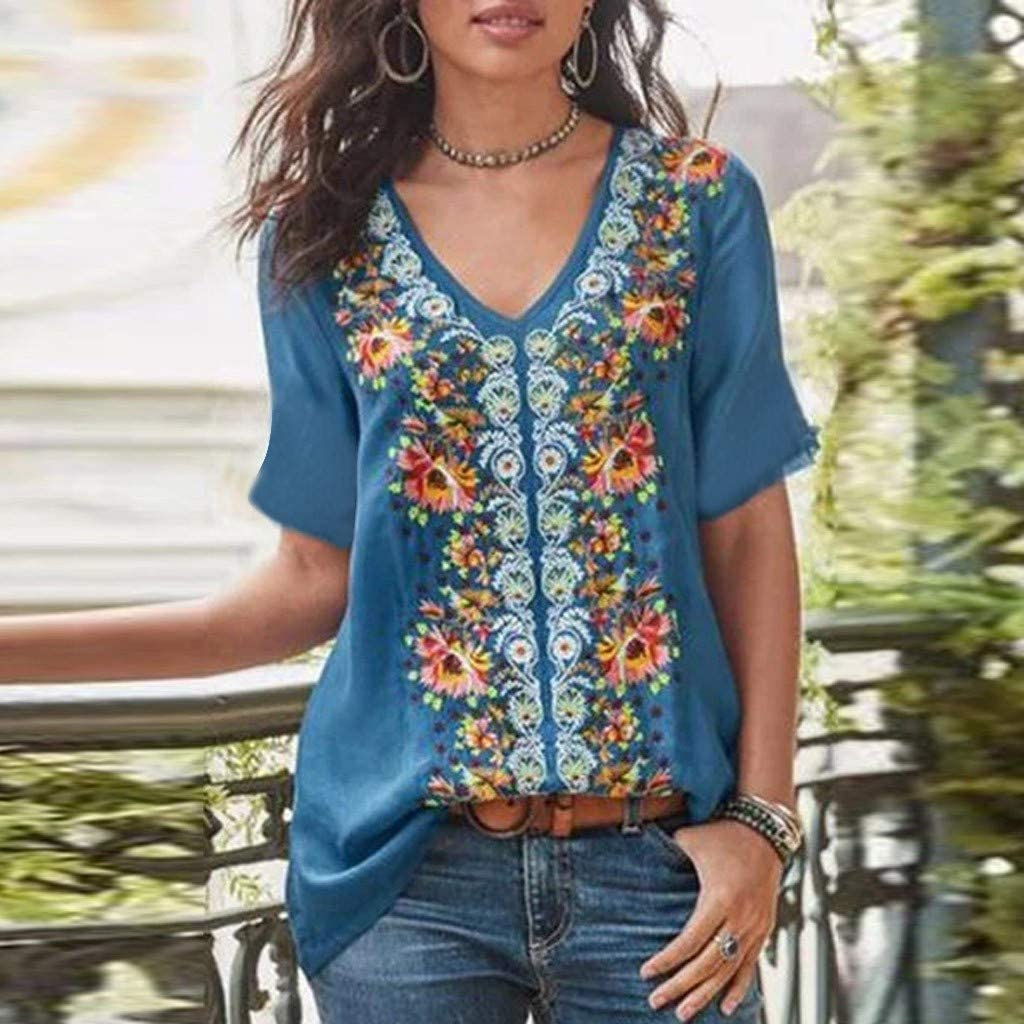 Women Lace Top Fashion Splice Retro Solid Print Casual Loose Shirt Tanic Blouse Tops Fashion Blouses 2019 Work