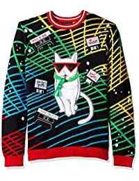 Blizzard Bay Mens Merry Mixtapes Cat Ugly Christmas Sweater Sweater
