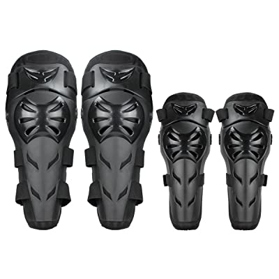 GES Knee Pads Motorcycle - 4Pcs Adult Knee/Motorcycle Elbow Pads/Adjustable Knee Cap Pads Protector Elbow Armor for Motorcycle Cycling Racing: Automotive
