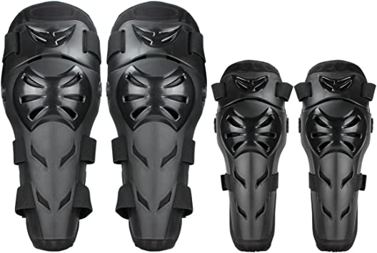 Style 2 4PCS Elbow Knee Pads Body Armor Set Protective Gear w// Adjustable Elastic Strap for Mountain Professional Motorcycle Racing Rider Pads