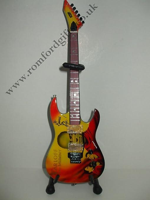 METALLICA KIRK HAMMET ESP MUMMY guitarra en miniatura: Amazon.es ...