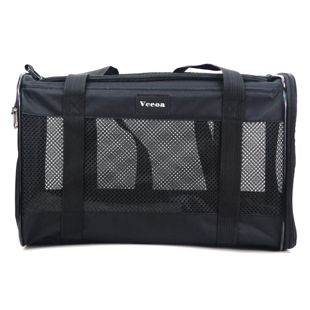 Vceoa Airline Approved Soft-Sided Pet Travel Carrier for Dogs and Cats by Vceoa